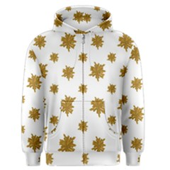 Graphic Nature Motif Pattern Men s Zipper Hoodie
