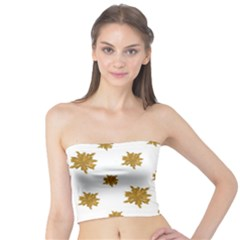 Graphic Nature Motif Pattern Tube Top