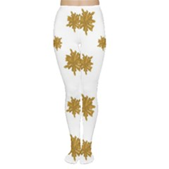 Graphic Nature Motif Pattern Women s Tights