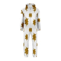 Graphic Nature Motif Pattern Hooded Jumpsuit (kids)