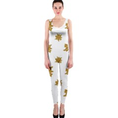 Graphic Nature Motif Pattern Onepiece Catsuit
