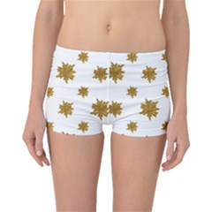 Graphic Nature Motif Pattern Boyleg Bikini Bottoms