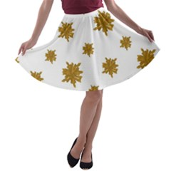 Graphic Nature Motif Pattern A Line Skater Skirt