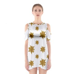 Graphic Nature Motif Pattern Shoulder Cutout One Piece