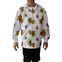 Graphic Nature Motif Pattern Hooded Wind Breaker (kids)