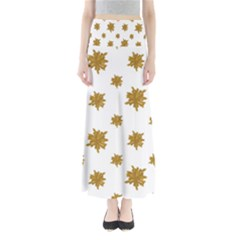 Graphic Nature Motif Pattern Full Length Maxi Skirt