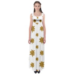 Graphic Nature Motif Pattern Empire Waist Maxi Dress