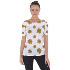 Graphic Nature Motif Pattern Short Sleeve Top