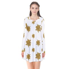 Graphic Nature Motif Pattern Flare Dress