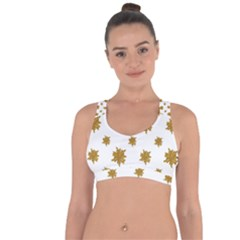 Graphic Nature Motif Pattern Cross String Back Sports Bra