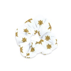 Graphic Nature Motif Pattern Velvet Scrunchie