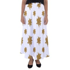 Graphic Nature Motif Pattern Flared Maxi Skirt