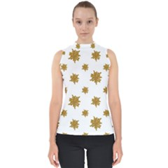 Graphic Nature Motif Pattern Shell Top
