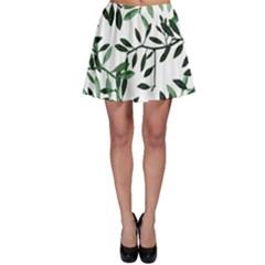 Botanical Leaves Skater Skirt