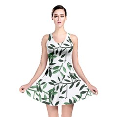 Botanical Leaves Reversible Skater Dress