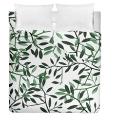 Botanical Leaves Duvet Cover Double Side (queen Size)