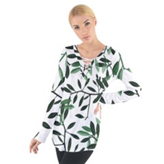 Botanical Leaves Tie Up Tee