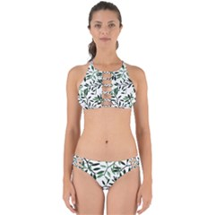 Botanical Leaves Perfectly Cut Out Bikini Set