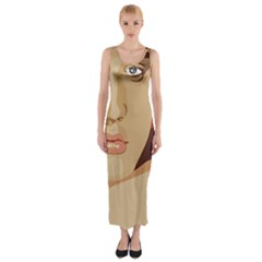 Elvis Presley Fitted Maxi Dress