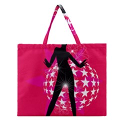 Sexy Lady Zipper Large Tote Bag