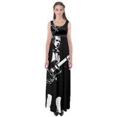 Angus Young  Empire Waist Maxi Dress
