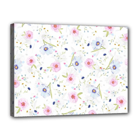 Floral Cute Girly Pattern Canvas 16  X 12
