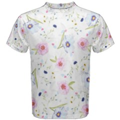 Floral Cute Girly Pattern Men s Cotton Tee
