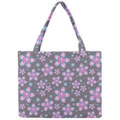 Seamless Pattern Purple Girly Floral Pattern Mini Tote Bag