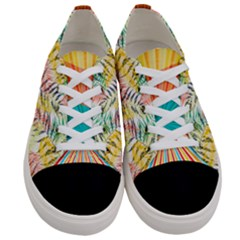 Colorful Leafy Leaves Women s Low Top Canvas Sneakers