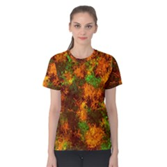 Squiggly Abstract F Women s Cotton Tee