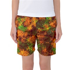 Squiggly Abstract F Women s Basketball Shorts
