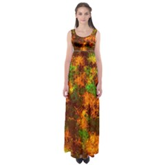 Squiggly Abstract F Empire Waist Maxi Dress