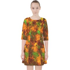 Squiggly Abstract F Pocket Dress