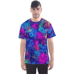 Squiggly Abstract E Men s Sports Mesh Tee