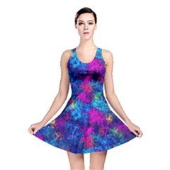 Squiggly Abstract E Reversible Skater Dress