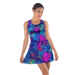 Squiggly Abstract E Cotton Racerback Dress