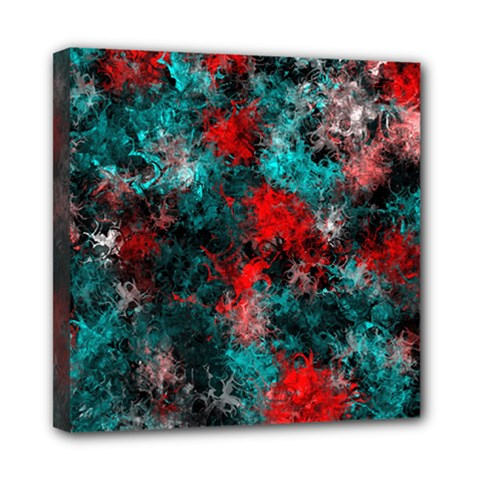 Squiggly Abstract D Mini Canvas 8  X 8
