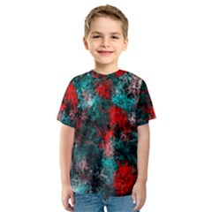 Squiggly Abstract D Kids  Sport Mesh Tee