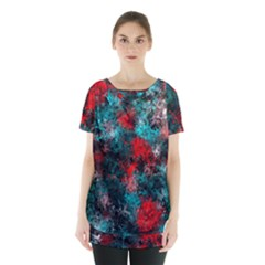 Squiggly Abstract D Skirt Hem Sports Top