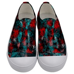 Squiggly Abstract D Kids  Low Top Canvas Sneakers