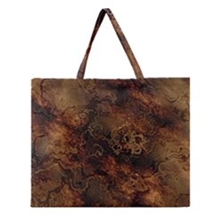 Wonderful Marbled Structure A Zipper Large Tote Bag