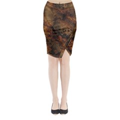 Wonderful Marbled Structure A Midi Wrap Pencil Skirt