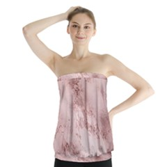 Wonderful Marbled Structure E Strapless Top