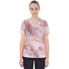 Wonderful Marbled Structure E Scrub Top