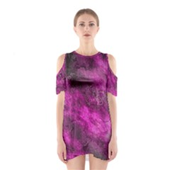 Wonderful Marbled Structure C Shoulder Cutout One Piece