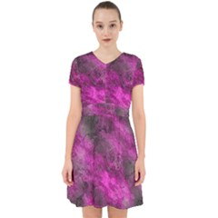 Wonderful Marbled Structure C Adorable In Chiffon Dress