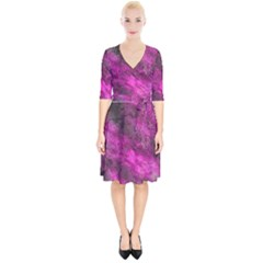 Wonderful Marbled Structure C Wrap Up Cocktail Dress