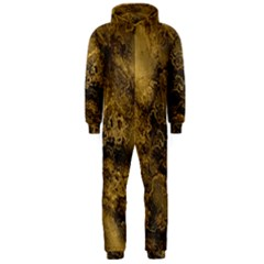 Wonderful Marbled Structure B Hooded Jumpsuit (men)
