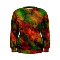 Wonderful Marbled Structure F Women s Sweatshirt