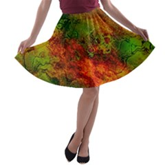 Wonderful Marbled Structure F A Line Skater Skirt